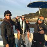 12月3日4日釣果!!真鯛、ハマチ、スズキ、シイラ、アオハタ、ヒラメ!