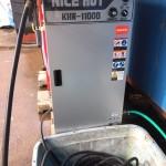 高圧洗浄機の新品を導入!!